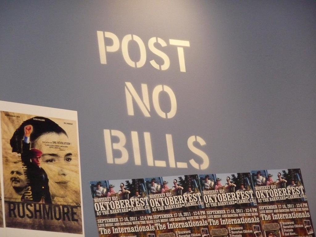 Decoration-of-Post-No-Bills-