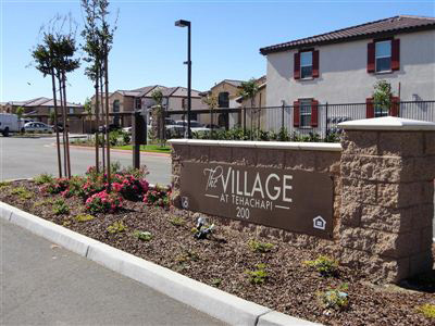 The Sign at the Village Tehachapi